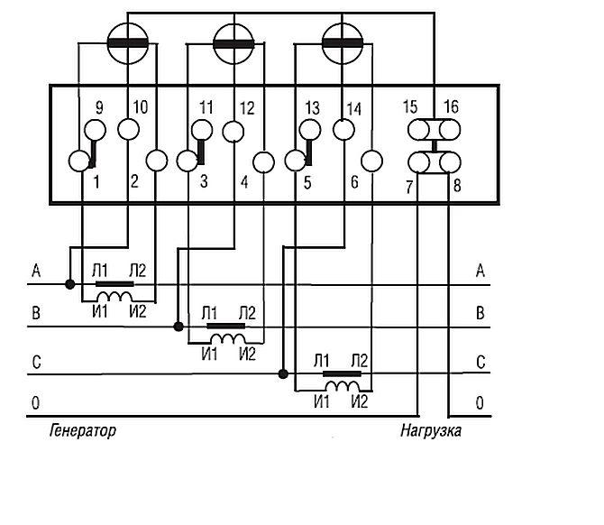 Схема включения счетчиков электрической энергии меркурий